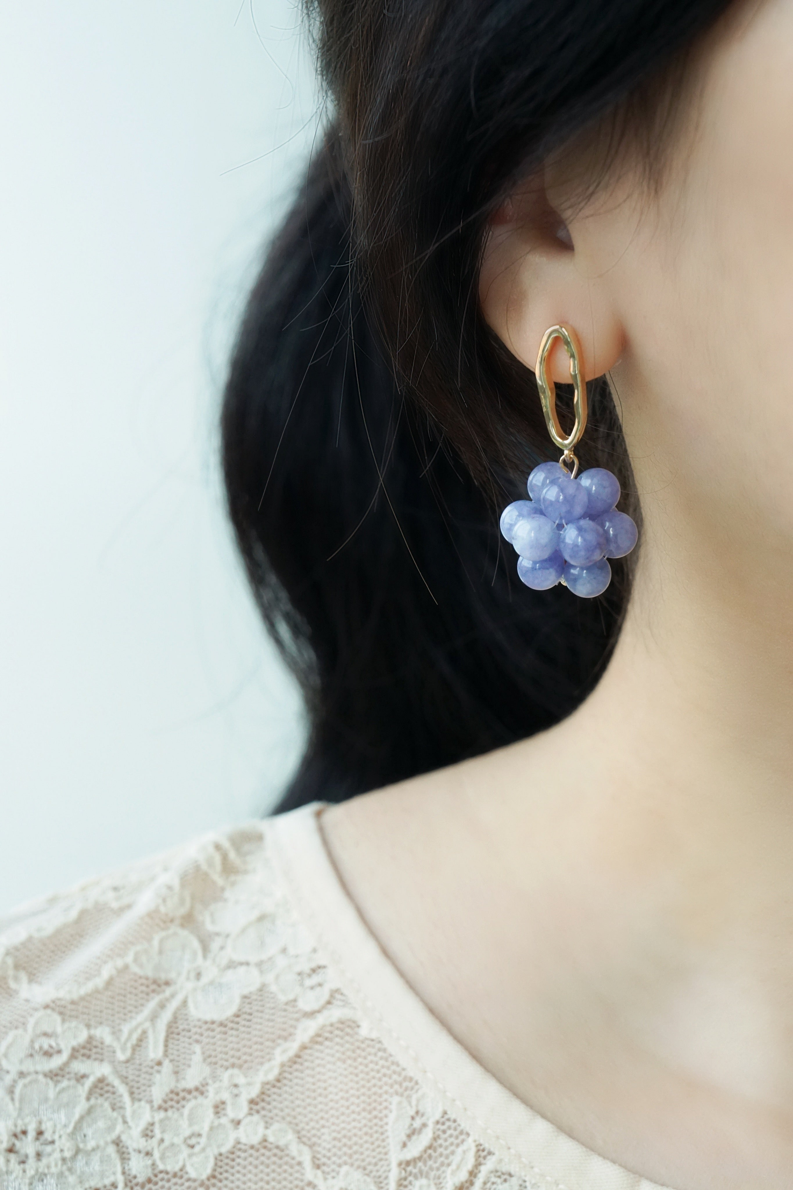 Berries Earrings - Strawberry Quartz (Mix & Match)