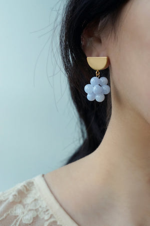 Berries Earrings - Blue Lace Agate (Mix & Match)