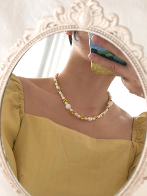 Smiley Pearl Necklace - RESTOCKED