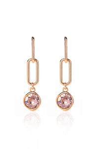 Edie Earrings in Rose Gold - Vintage Rose