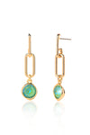 Edie Earrings in Gold - Silky Sage Delite