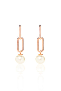 Audrey Earrings in Rose Gold