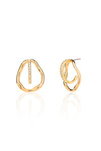 Georgia Three-way Pavé Earrings in Gold