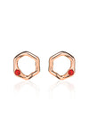 Debbie Earrings in Rose Gold - Scarlet