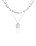 Jane Necklace in Silver - Mother Of Pearl