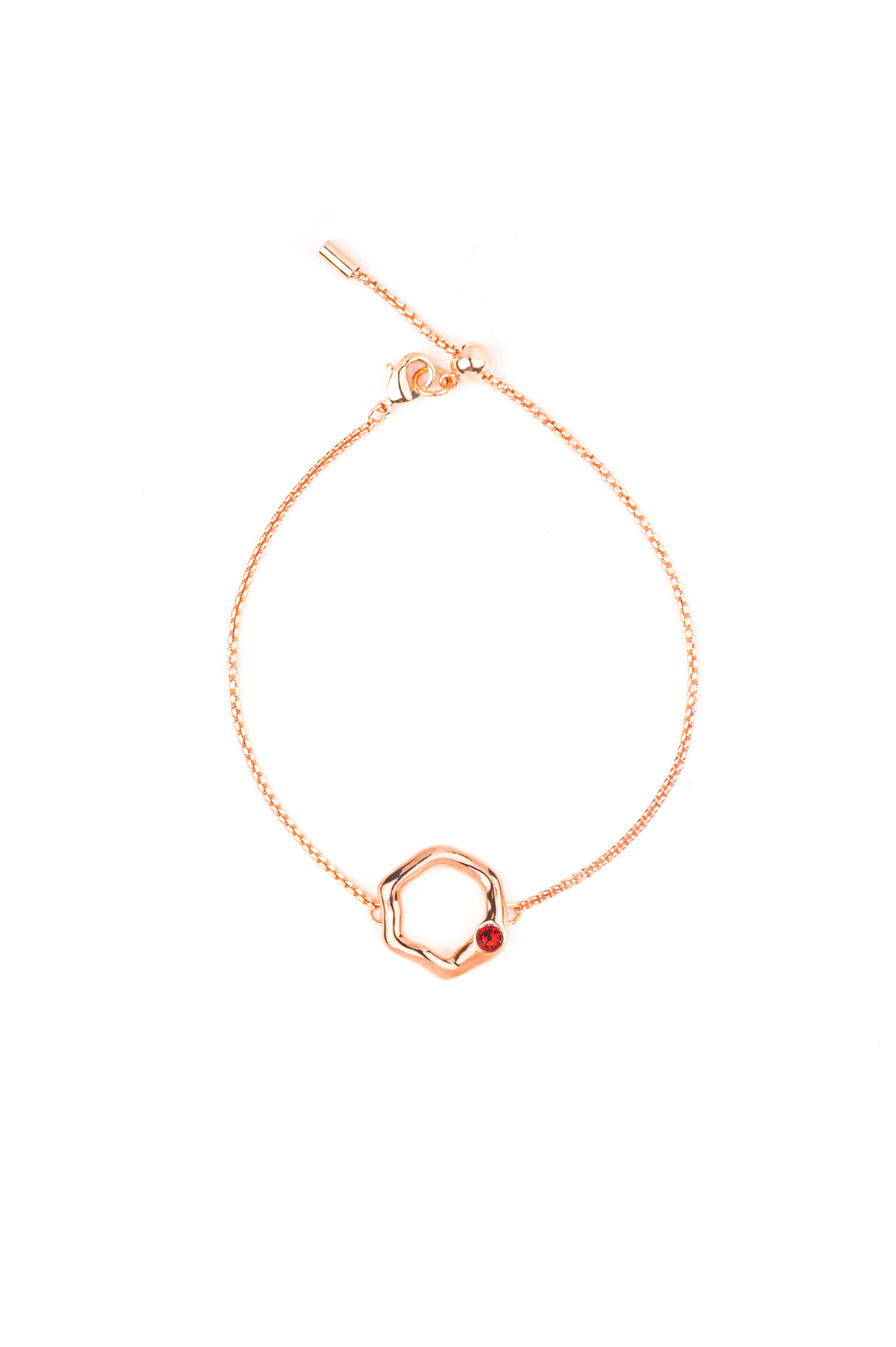 Stevie Bracelet in Rose Gold - Scarlet