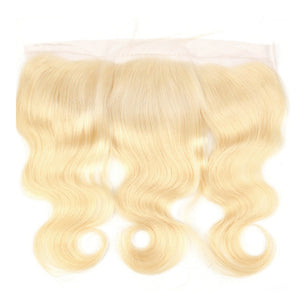 PRETTY BLONDESHELL 13x6 TRANSPARENT LACE FRONTAL