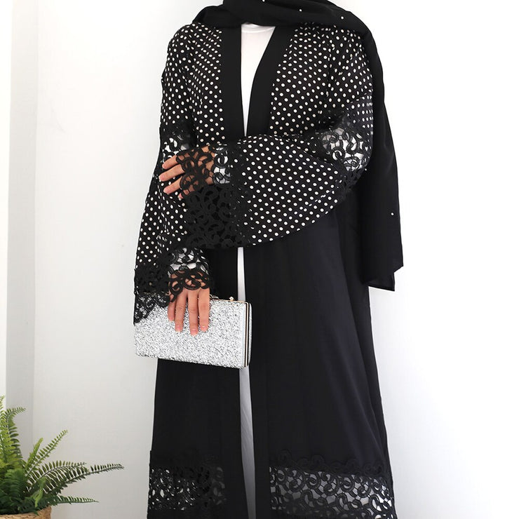 Open Lace Abaya | Hassanet.com
