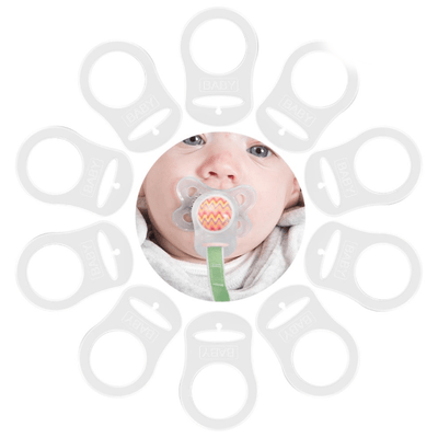 Pacifier Adapters for Mam, Nuk and other button type Dummies
