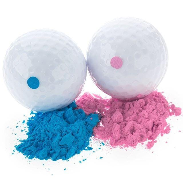 Gender Reveal Exploding Golf Ball Set