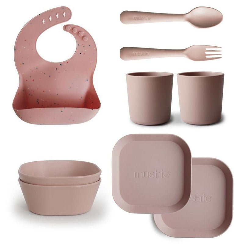 The Complete Mushie Bib & Dinnerware Package