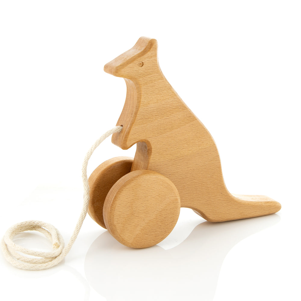 Hopping Kangaroo Pull Toy