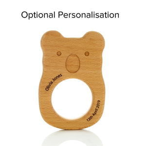 Personalised koala teether