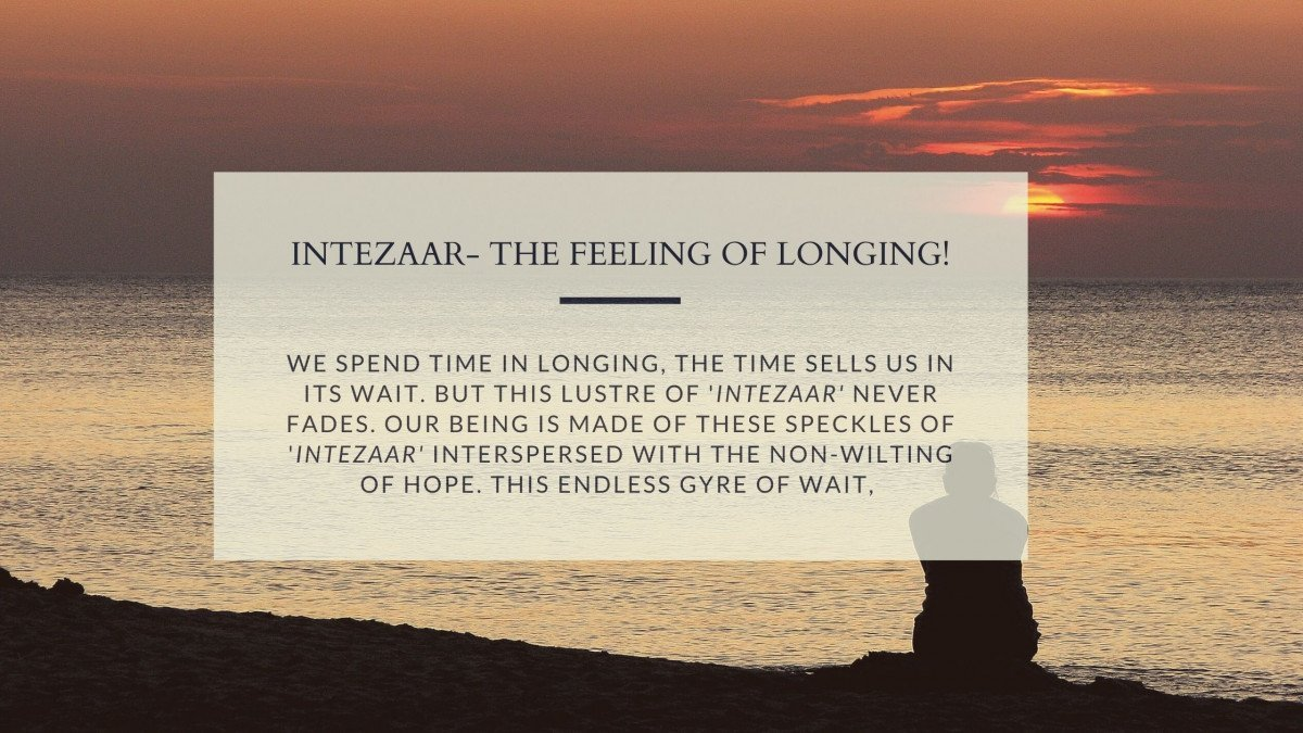 Intezaar- The Feeling Of Longing! Urdu Bazaar