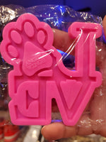 Love Paw Mold