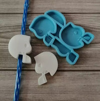 Football Helmet Straw Topper