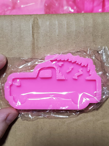 Truck with Tree Keychain Mold
