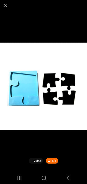 Irregular Puzzle Piece Coaster Mold