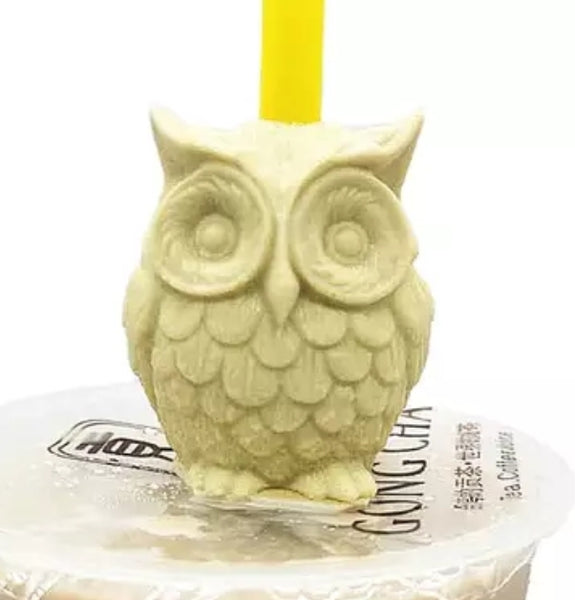 Straw Topper - Owl
