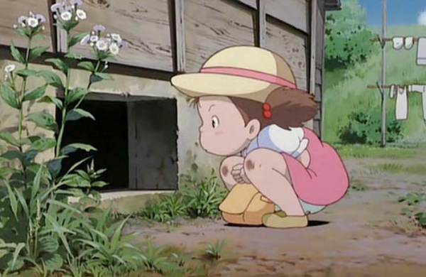 Mei - The characters in the movie My neighbor Totoro