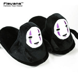 Spirited Away No Face Plush Shoes Home Winter