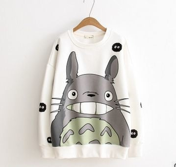 Totoro Hoodie Sweatshirt 3D Autumn Winter-3