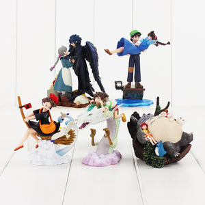 Set Totoro - Spirited Away -The Castle in the Sky - Howl's Moving Castle - Kiki's Delivery Service figures