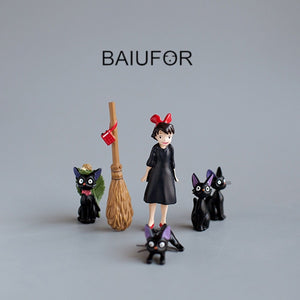 BAIUFOR Anime Kiki's Delivery Service Magic Girl Figurines