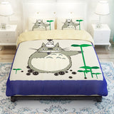 Grey Totoro 3 Pieces Bedding Sets Bed-3