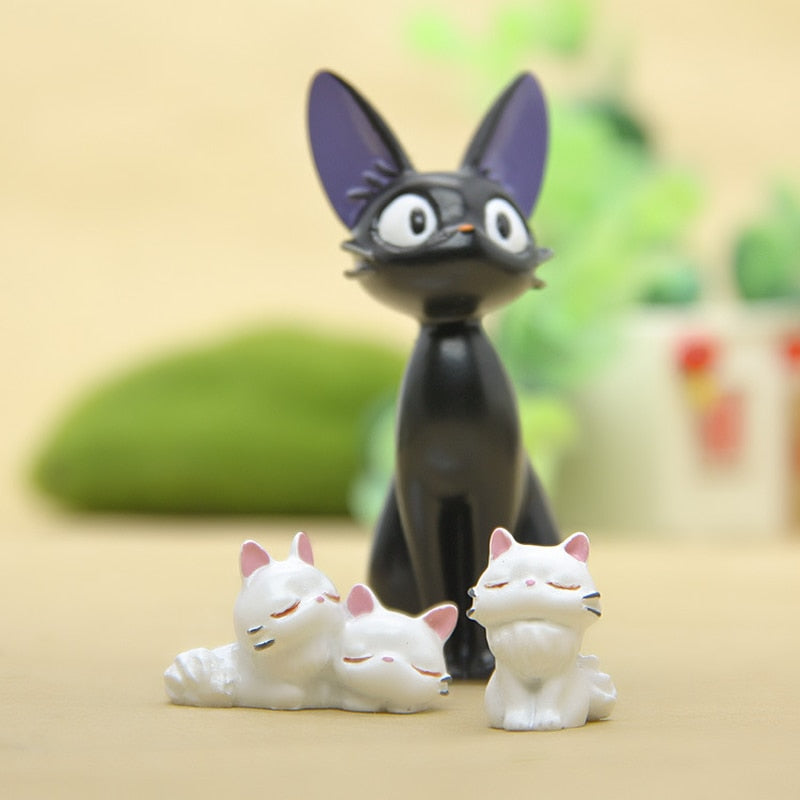 JiJi Cat Figurines Cute