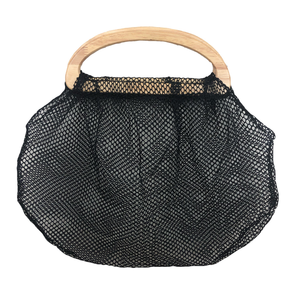 Netted Beach Tote bag in BLACK
