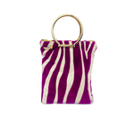 Safari Zebra Print Zoe Mini Tote bag