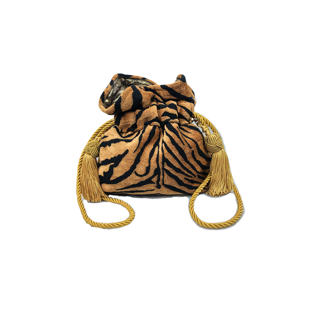 Tiger Print Mini Drawstring Pouch
