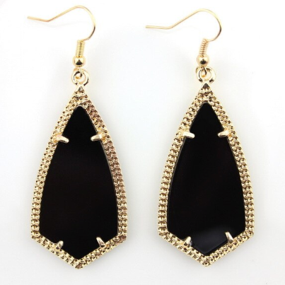 Black Chandelier Drop Earrings