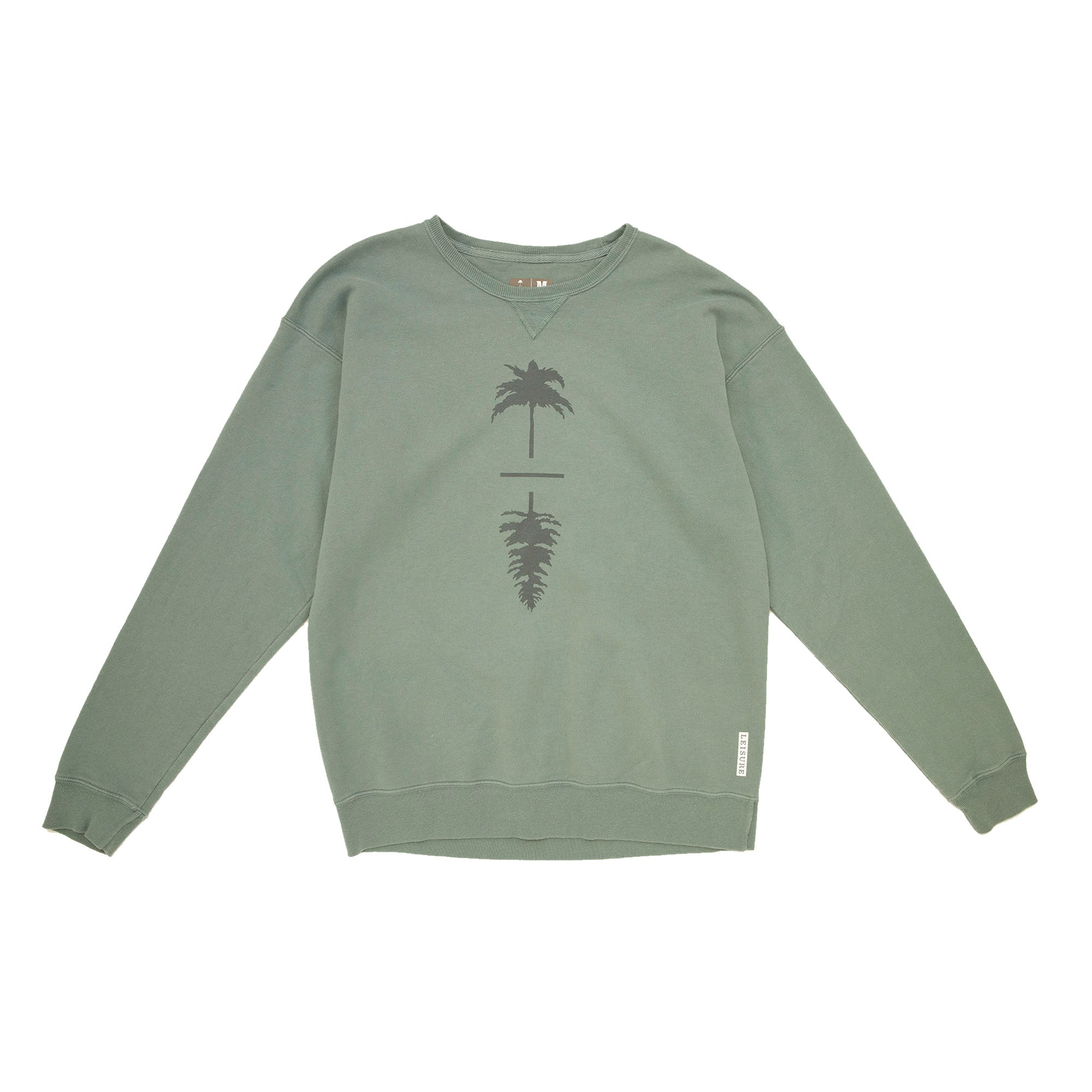 Old Soul Vintage Wash Old Growth Palm To Pine Crewneck