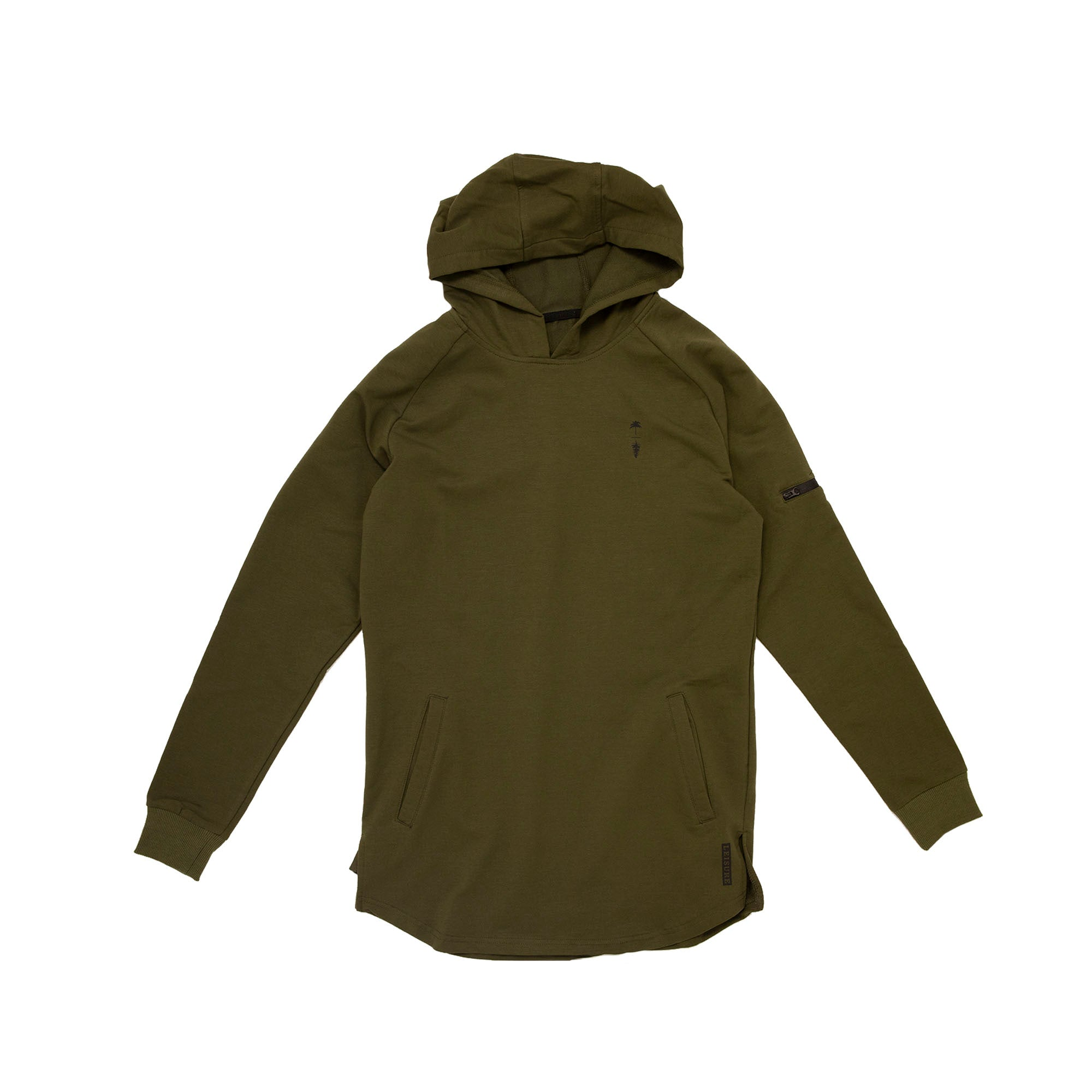 Premium Palm To Pine Scooped Hoodie