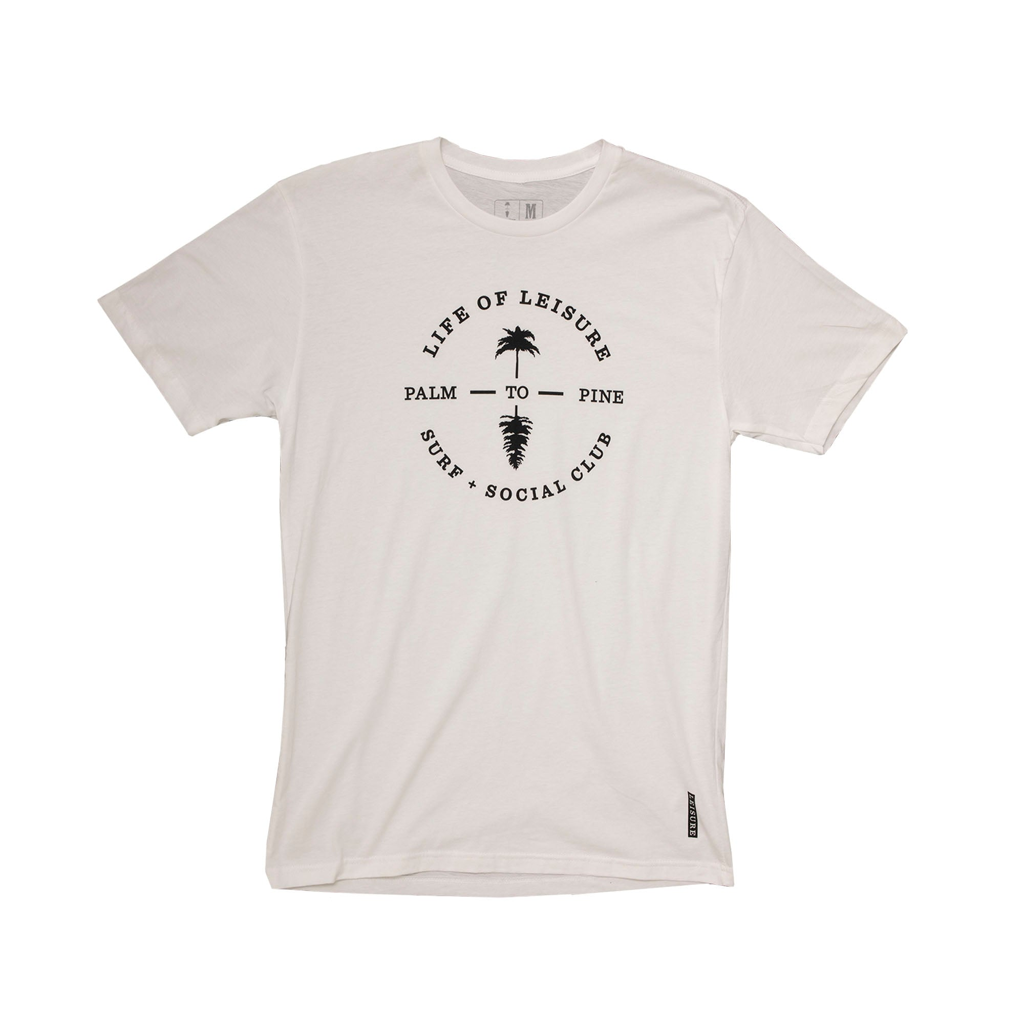 Classic Life Of Leisure Surf & Social Club Circle T-Shirt