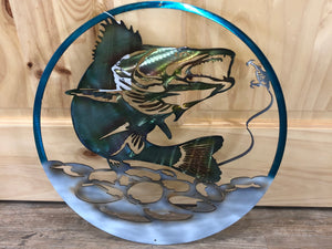 Hand Painted Walleye Oval - cut'n-creations