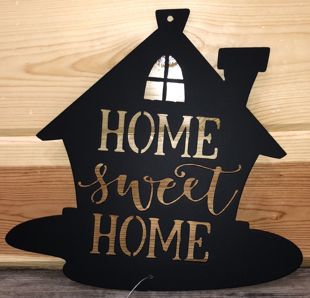 Home Sweet Home House Metal Art- Cut'N Creations