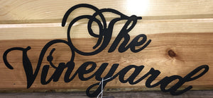 the vineyard wall hanging metal art - cut'n creations