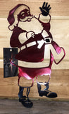 Santa - Painted Metal Art