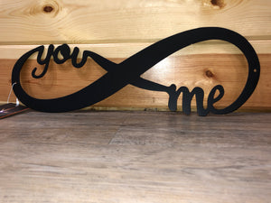 You and Me Infinity - Metal Art