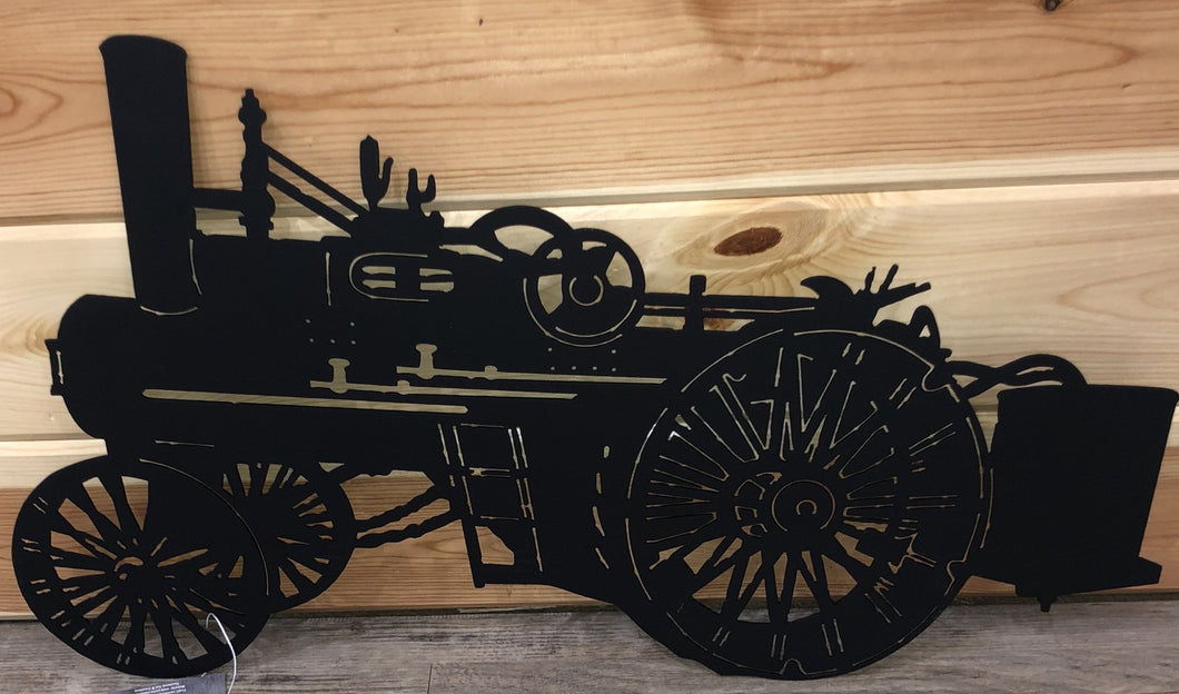 steam tractor farm wall hanging metal art - cut'n creations
