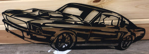 Ford Mustang Metal Art Black - Cut'N Creations