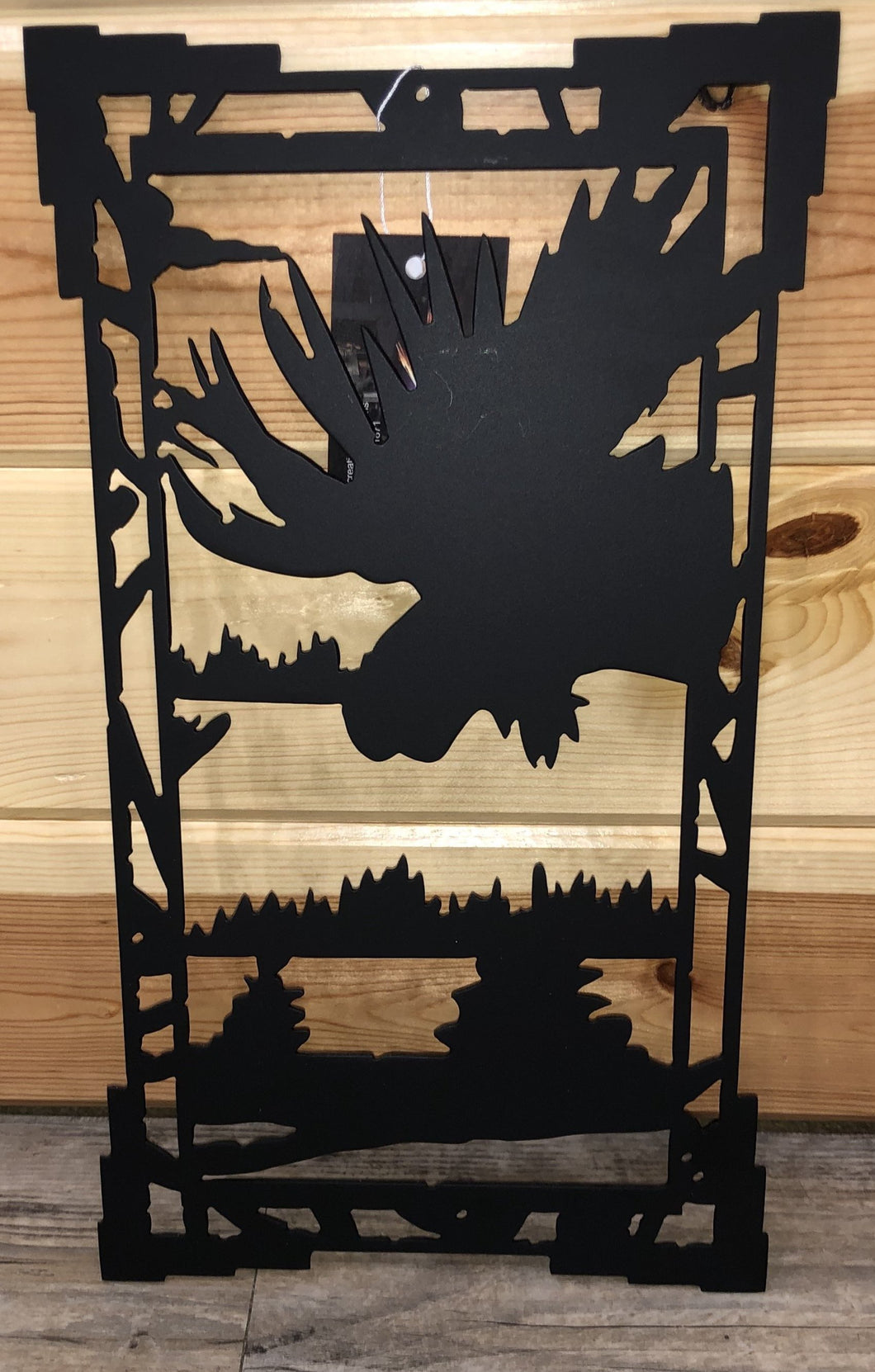 Rectangle Moose Decorative Metal Art Wall Hanging - Cut' Creations