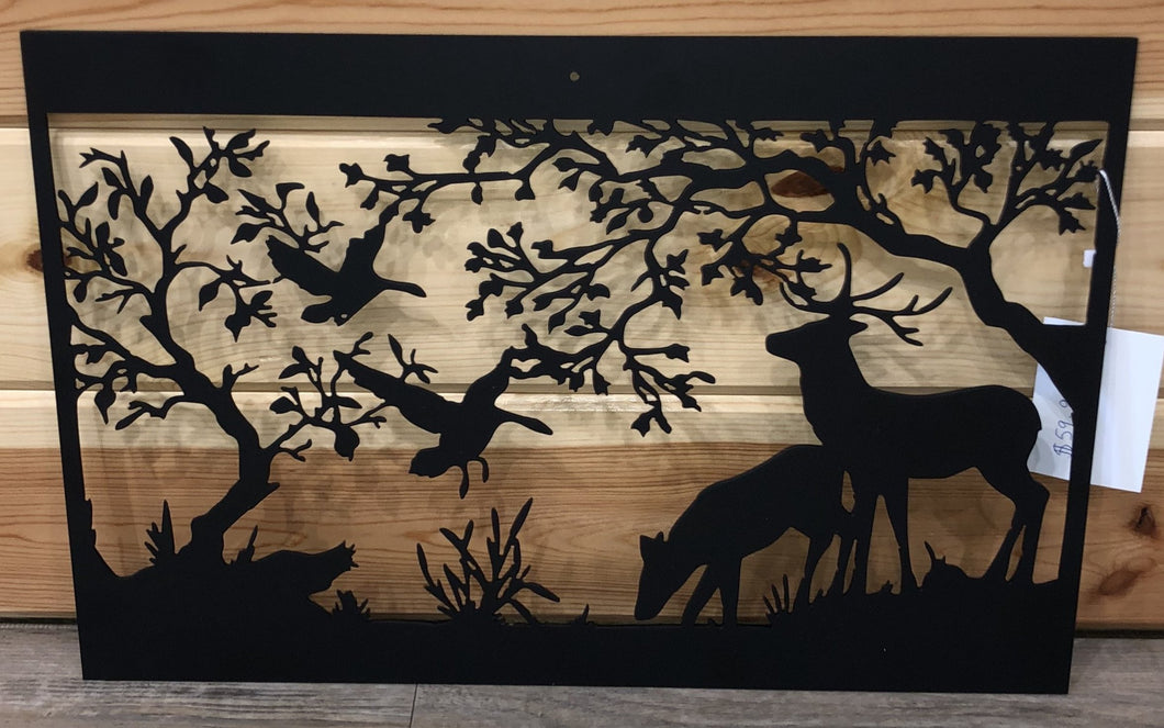 Nature Forest Deer Goose Scene - Cut'N Creations