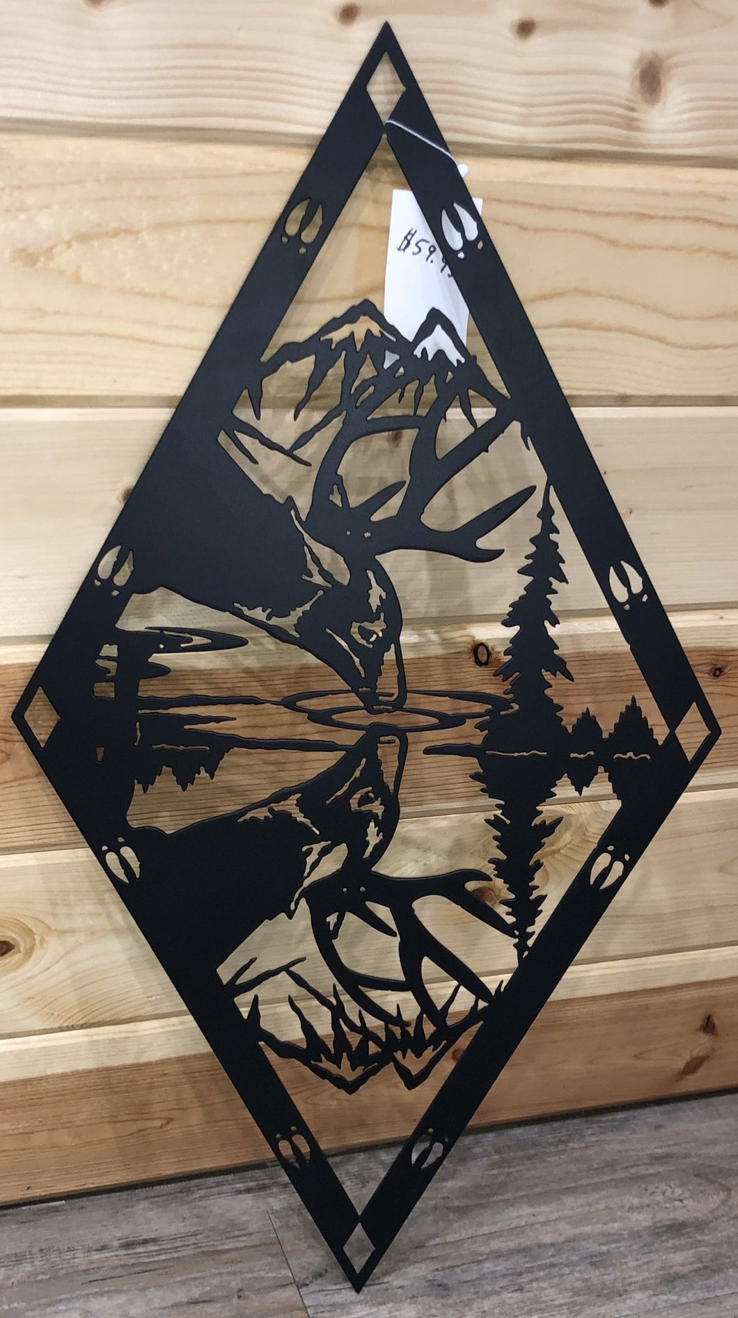 Deer Reflection Metal Art - Cut'N Creations