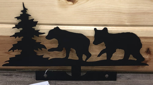 Bear Cub Mailbox topper metal art
