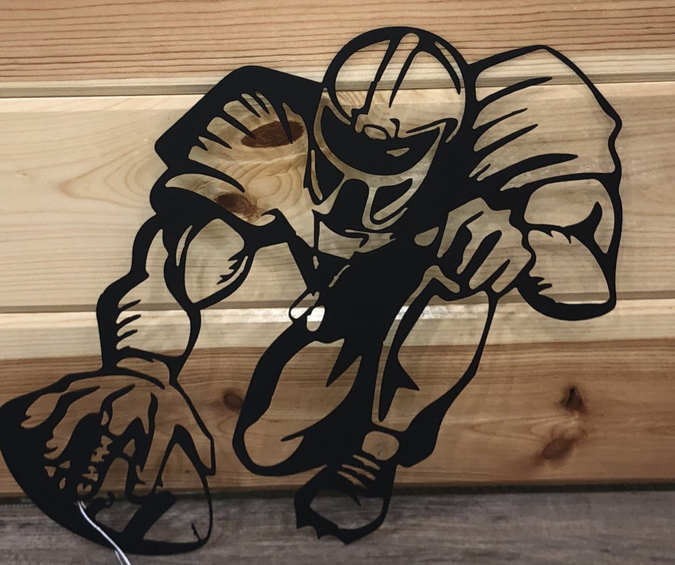 Football Players Metal Art - Cut'N Creations