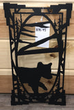 Rectangle Bear Cub Metal Art
